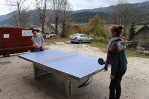 Détente au ping pong
